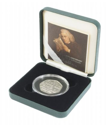 2005 Silver Proof Piedfort 50p - Johnson's Dictionary